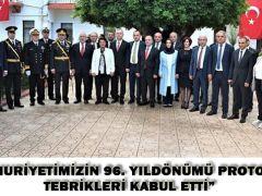 """CUMHURİYETİMİZİN 96. YILDÖNÜMÜ PROTOKOL TEBRİKLERİ KABUL ETTİ"""""""