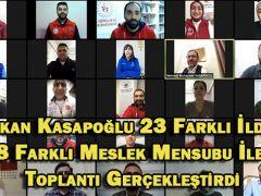 Bakan Kasapoğlu 23 Farklı İlden 8 Farklı Meslek Mensubu İle Toplantı Gerçekleştirdi