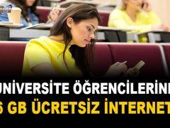 Üniversite Öğrencilerine 6 GB Ücretsiz İnternet