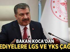 Bakan Koca'dan Belediye Başkanlarına LGS ve YKS Çağrısı
