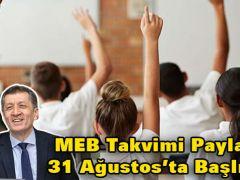 MEB Takvimi Paylaştı: 31 Ağustos'ta Başlıyor