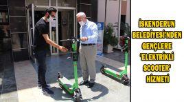 İSKENDERUN BELEDİYESİ'NDEN GENÇLERE 'ELEKTRİKLİ SCOOTER' HİZMETİ
