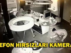 TELEFON HIRSIZLARI KAMERADA