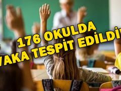 176 OKULDA VAKA TESPİT EDİLDİ!