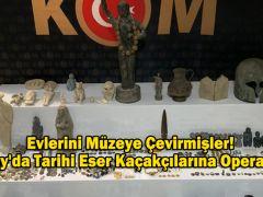 Evlerini Müzeye Çevirmişler! Hatay'da Tarihi Eser Kaçakçılarına Operasyon