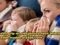 Korona mı grip mi olduğunuzu nasıl anlarsınız? İşte madde madde aradaki fark