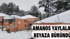 AMANOS YAYLALARI BEYAZA BÜRÜNDÜ