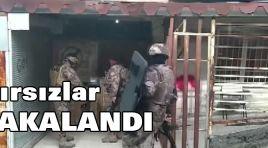 HIRSIZLAR YAKALANDI