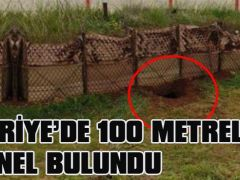 SURİYE'DE 100 METRELİK TÜNEL BULUNDU