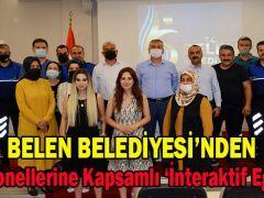 BELEN BELEDİYESİ'NDEN 'İNTERAKTİF EĞİTİM'UYGULAMASI
