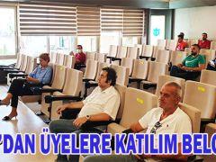 DTO'DAN ÜYELERE KATILIM BELGESİ