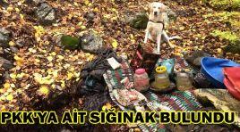 PKK'YA AİT SIĞINAK BULUNDU
